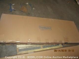 "Sandusky WS722474-C Chrome Steel Heavy Duty Adjustable Wire Shelving, 2400 lbs Capacity, 72"" Width x 74"" Height x 24"" Depth, 4 Shelves (Retail $221.00)"