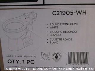 Delta Faucet C21905-WH Haywood Toilet Bowl, White (Retail $80.00)
