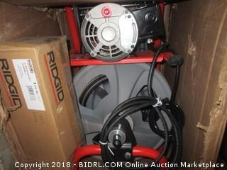Ridgid 27013 K-400AF 115Volt C45IW Drum Machine with C45 Integral Wound Cable with Autofeed (Retail $753.00)