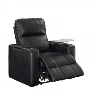 Pulaski Power Home Theatre Recliner, USB Port, Tray, Blanche Black (Retail $519.00)