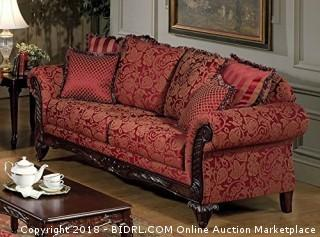 Serta Upholstery 7650FRS 7650FRS03 Traditional Style Sofa in Momentum, Magenta (Retail $776.00)