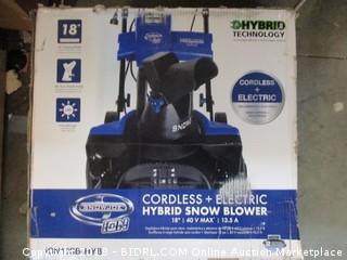 Hybrid Cordless + Electric  Hybrid Snow Blower