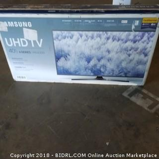 "Samsung UHD TV 40""  Defective , Cracked Screen"