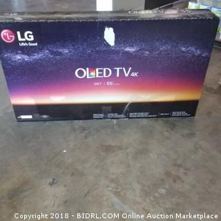 "LG OLED TV  55"" Powers On"