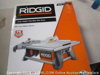 Ridgid Table Top Wet Tile Saw