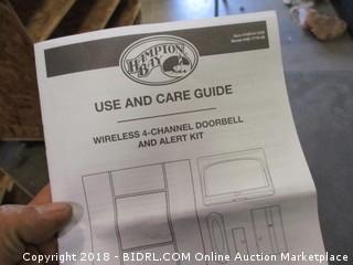 Wireless 4-Channel Doorbell and Alert Kit