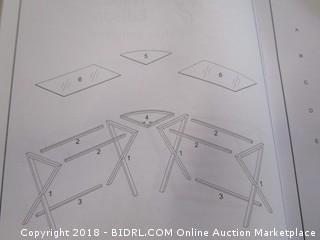 X-frame Glass & Metal L-Shaped Computer desk