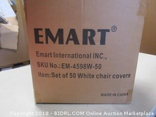 EMART White Chair Covers