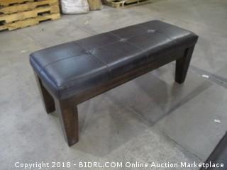 Large Upholstered Dining Room Bench / Loose Leg