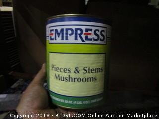 Empress Pieces & Stems Mushrooms 4Ibs 4oz Best Used Date June 2019