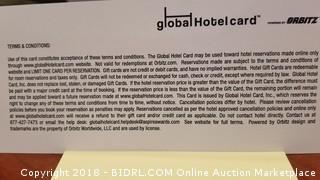 $50.00 Global Hotel Card