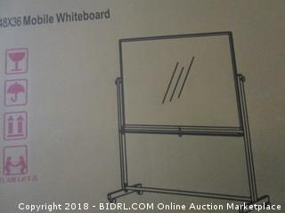 Luxor MB3648WW Double Sided Magnetic Whiteboard (Retail $182.00)