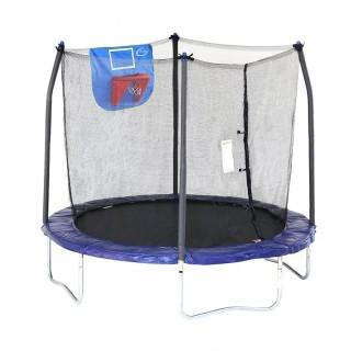 Skywalker Trampolines Jump N' Dunk Trampoline with Safety Enclosure and Basketball Hoop, 8-Feet (Retail $165.00)