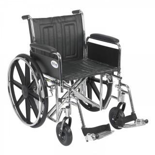 Drive Medical Sentra EC Heavy Duty Wheelchair with Various Arm Styles and Front Rigging Options, Black (Retail $252.00)