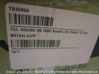 TCL 49S405 49-Inch 4K UHD Smart LED Roku TV (Retail $299.00)