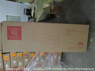 "58"" Wood TV Console Espressso with storage"