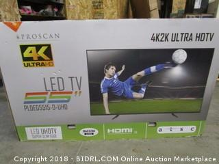 Proscan 4K Ultra HD LED TV Powers On See Pictures