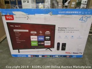 "TCL Roku TV  43"" Powers On See Pictures"