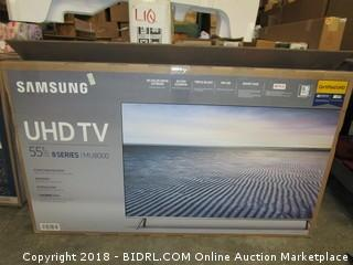 "Samsung UHD TV  55""   Powers On See Pictures"