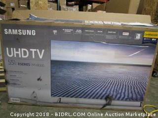 "Samsung UHD TV 55"" TV Powers On"