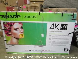 """Sharp  Ultra HD Smart TV 55""""  Defective See Pictures"""