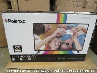 "Polaroid 40"" FHD LED TV Powers On  See Pictures"