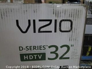 "VIZIO D-Series HDTV 32""  Cracked Screen, Defective See Pictures"