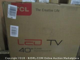 """LED TV 40"""" Defective, Cracked Screen See Pictures"""