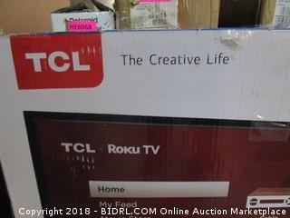 "TCL Roku TV 40"" Defective, Powers On, Cracked Screen See Pictures"