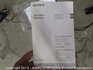 Sony Television  Powers On, In Box See Pictures