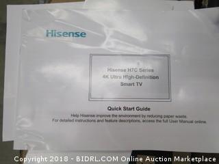 Hisense H7C Series 4K Ultra High Definition Smart TV Powers on, In Box See Pictures