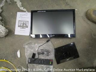 "Super Sonic 15.6"" Widescreen LED TV Powers on See Pictures"