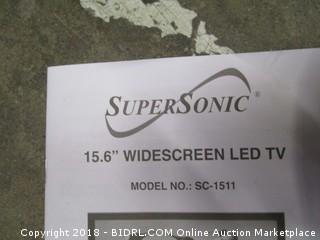 """Super Sonic 15.6"""" Widescreen LED TV Powers on See Pictures"""