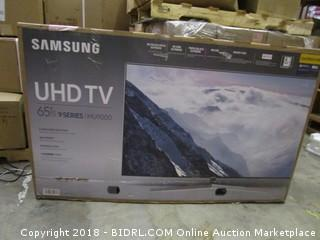 "Samsung UHD TV 65""   Powers on, Cracked Screen"