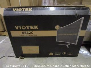 Viotek Curved LED Monitor 31.5 Monitor  Powers On