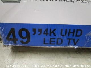 "Avera 49"" 4K UHD LED TV Powers On Screen Defective See Pictures"