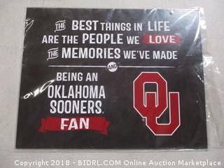 Acrylic Art Plaque Family Cheer Oklahoma Sooners