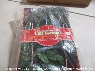 Cordless Pre Lit LED Garland