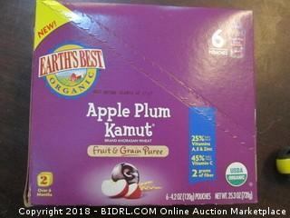 Earths Best Apple Plum Kamut Pouches