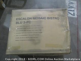 Escalon Mosaic Bistro  3 Pc