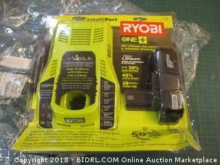 Ryobi Battery and Charger