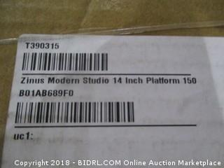 Zinus Modern Studio 14 Inch Platform/ Possible Incomplete
