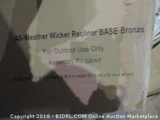 All weather Wicker Recliner Base  Water damaged
