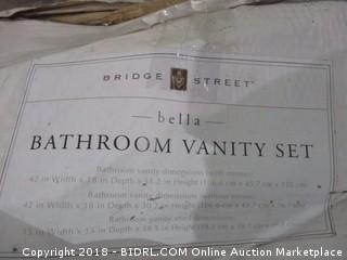 Bathroom Vanity Set  Water Damaged