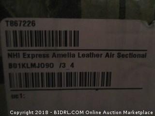 Express Amella Leather Air Sectional  Incomplete Set