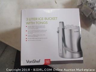3 Liter Ice Bucket with Tongs
