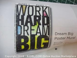 Dream Big Poster Mural