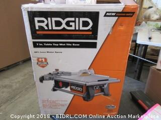 Rigid 7 in. Table Top Wet Tile Saw