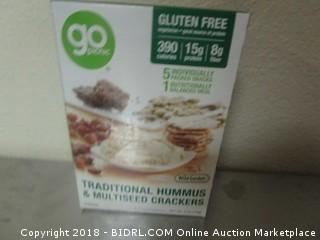Hummus and Multiseed Crackers