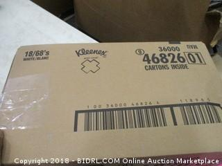 Kleenex 18 Cartons (Some Damaged Boxes)